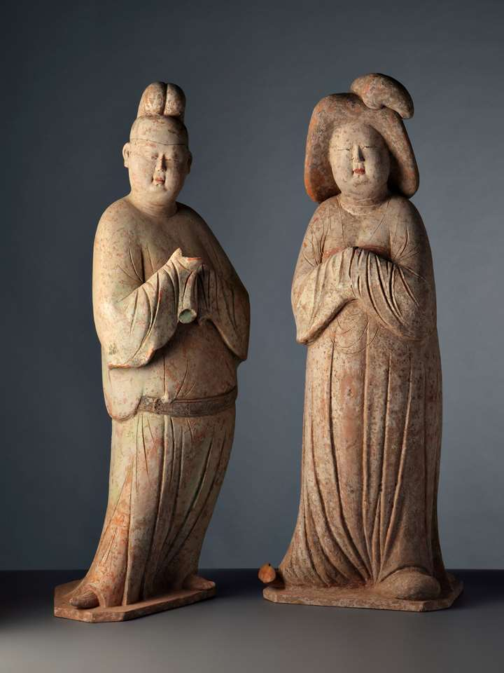 Court Gentleman and Lady - Tang Dynasty